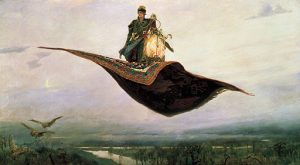 Flying carpet from Firebird, a Russian fairy tale.